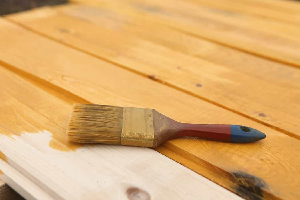 staining wood surfaces
